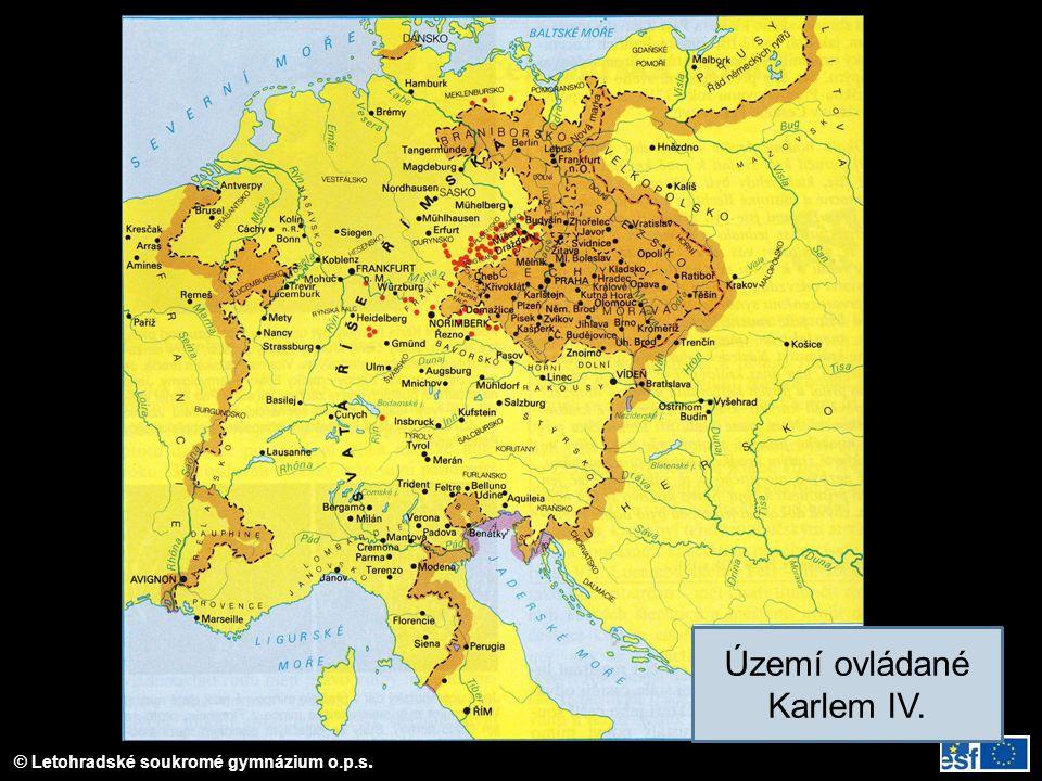Území ovládané Karlem IV.