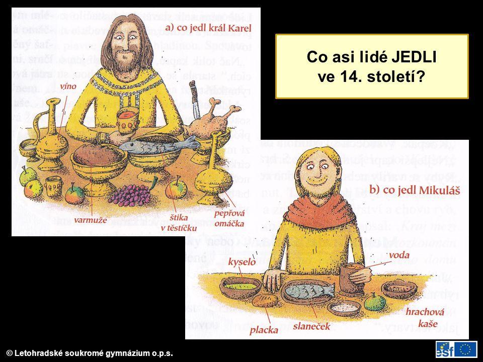 Co asi lidé JEDLI ve 14. století?