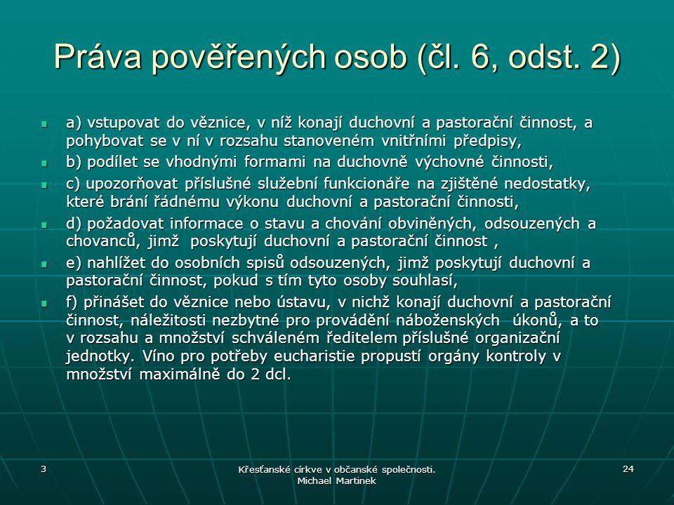 Práva pověřených osob (čl.6, odst.