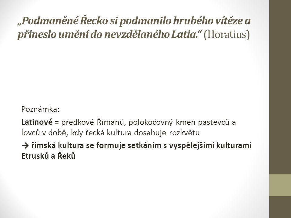  římské písmo - latinka ← z řecké alfabety, přejata prostřednictvím Etrusků  jazyk vrcholí v tzv.
