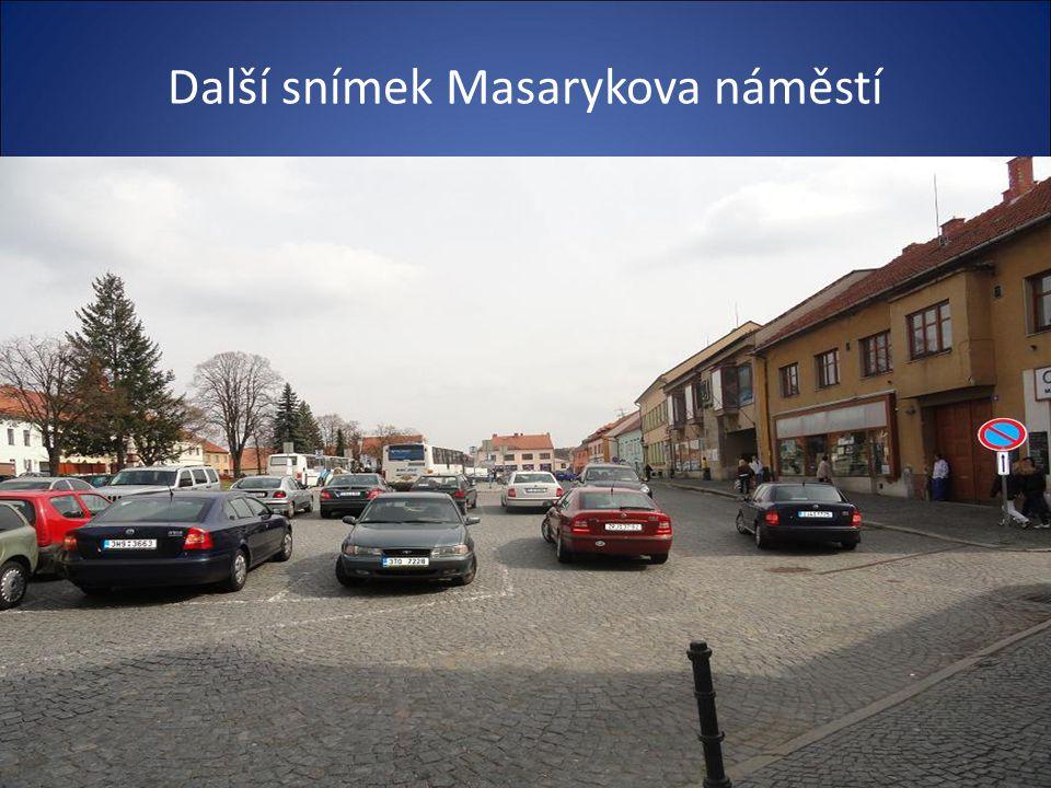 Z letec. snímku je vidět centrum města a Masarykovo náměstí