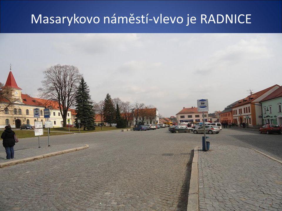 Příjezd do centra města od Brna –menší vzdálenost