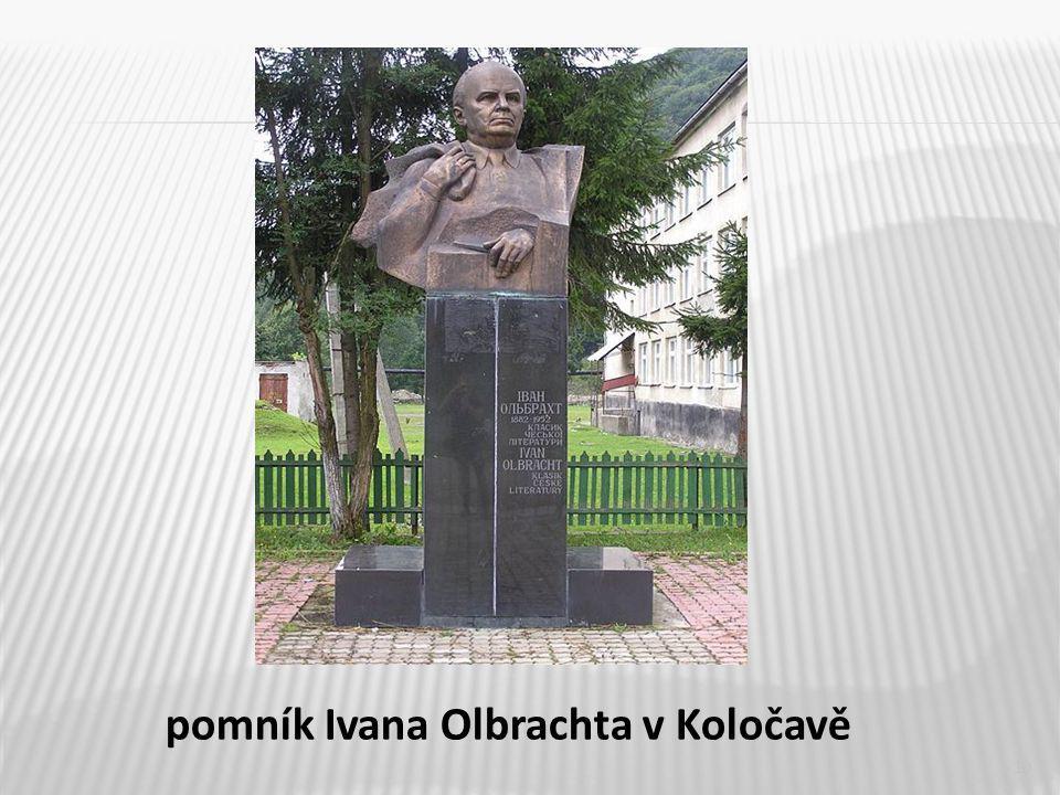 10 pomník Ivana Olbrachta v Koločavě