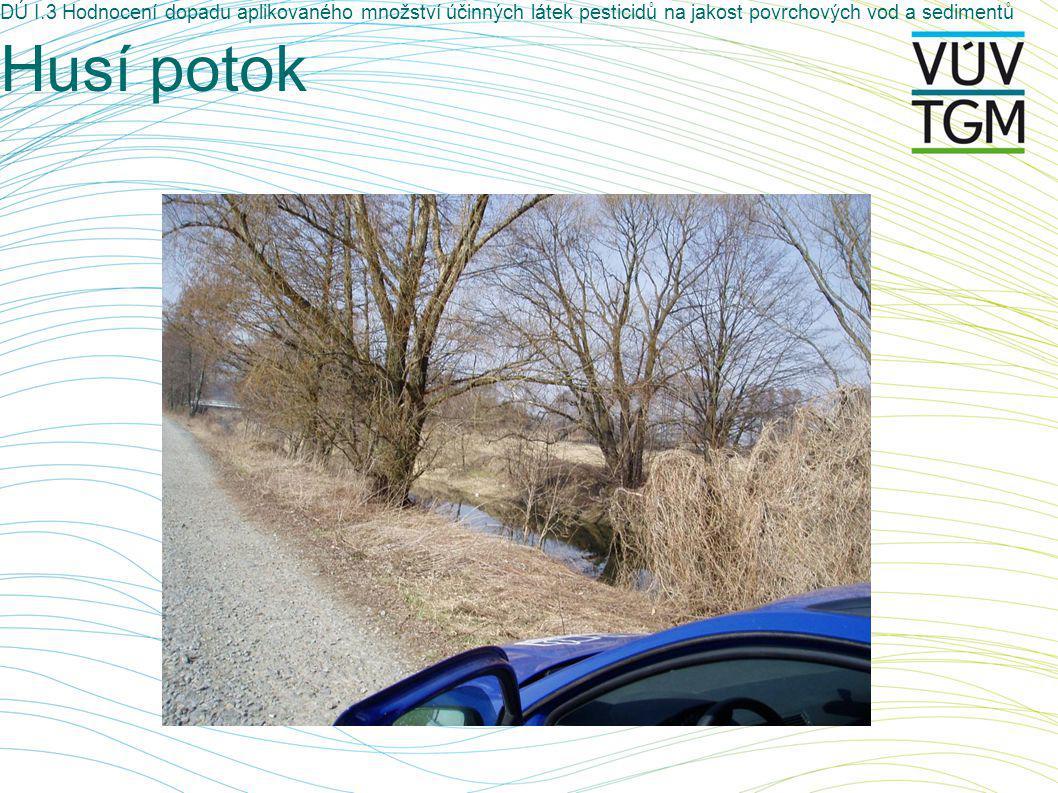 DÚ I.3 Hodnocení dopadu aplikovaného množství účinných látek pesticidů na jakost povrchových vod a sedimentů Husí potok