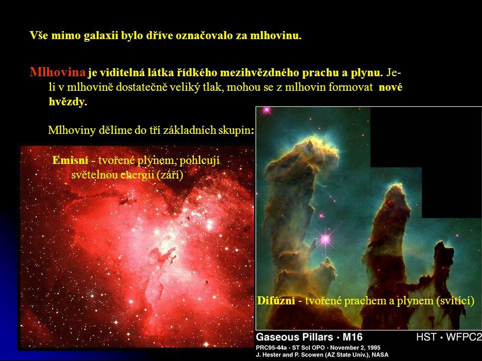 Vše mimo galaxii bylo dříve označovalo za mlhovinu.