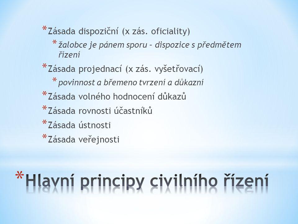 * Zásada dispoziční (x zás.