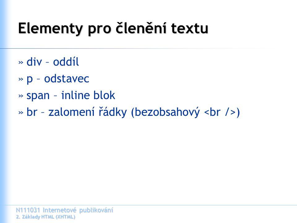 N111031 Internetové publikování 2.