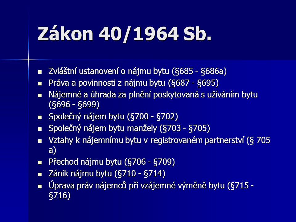 Zákon 40/1964 Sb.