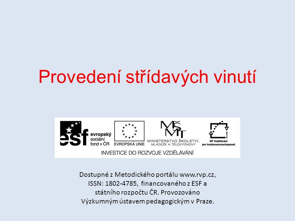 Provedení střídavých vinutí Dostupné z Metodického portálu www.rvp.cz, ISSN: 1802-4785, financovaného z ESF a státního rozpočtu ČR. Provozováno Výzkum
