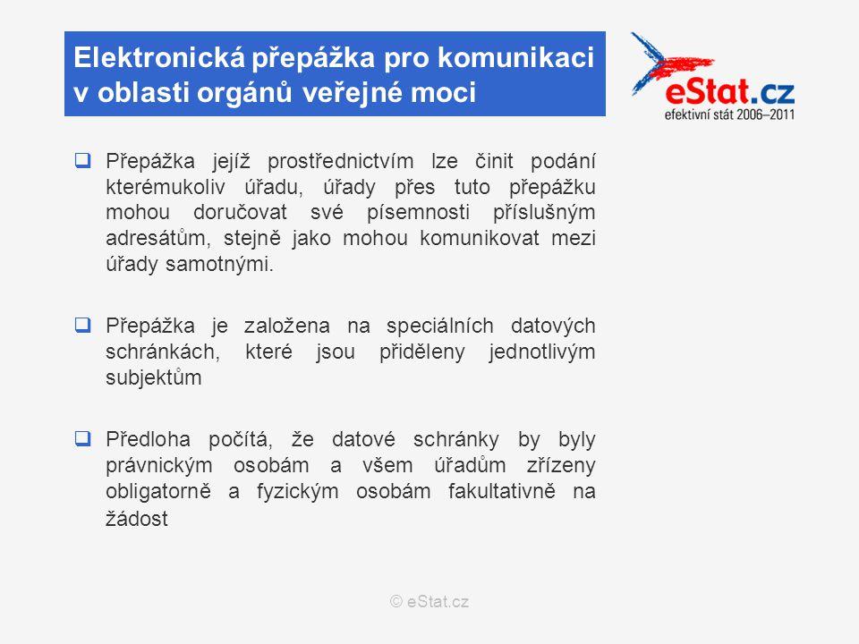 © eStat.cz  Přepážka jejíž prostřednictvím lze činit podání kterémukoliv úřadu, úřady přes tuto přepážku mohou doručovat své písemnosti příslušným adresátům, stejně jako mohou komunikovat mezi úřady samotnými.