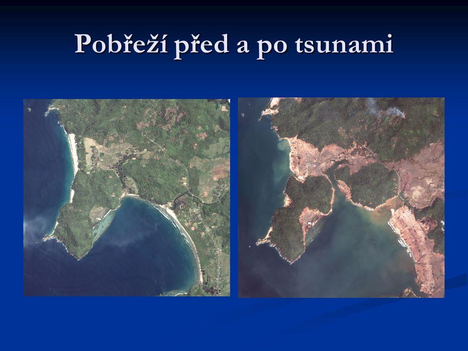 Pobřeží před a po tsunami