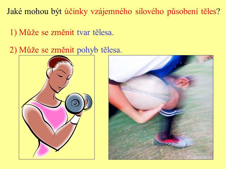 Jaké mohou být účinky vzájemného silového působení těles.