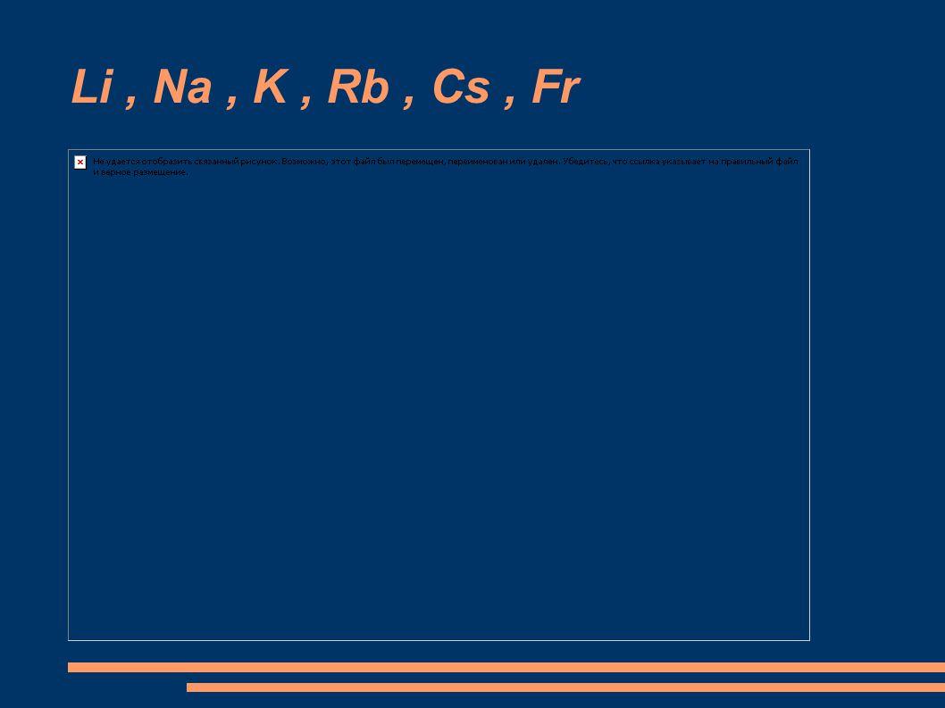 Francium - radioaktivní s velmi rychlým poločasem rozpadu - bylo objeveno roku 1939 - sloučeniny i reakce jsou velmi podobné s cesiem