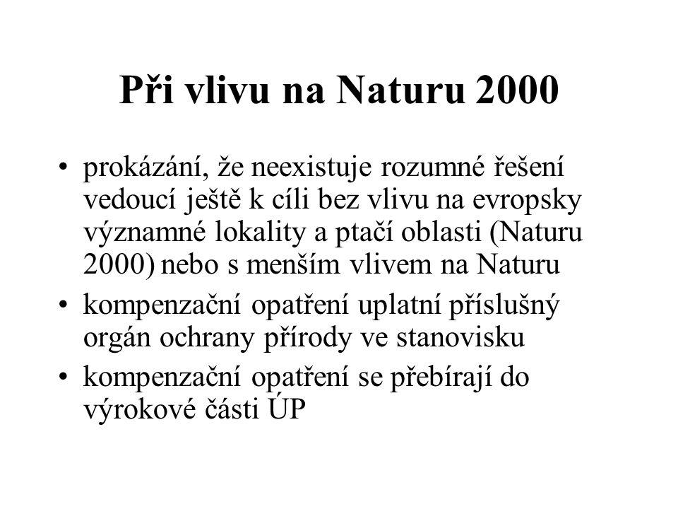 Při vlivu na Naturu 2000 prokázání, že neexistuje rozumné řešení vedoucí ještě k cíli bez vlivu na evropsky významné lokality a ptačí oblasti (Naturu
