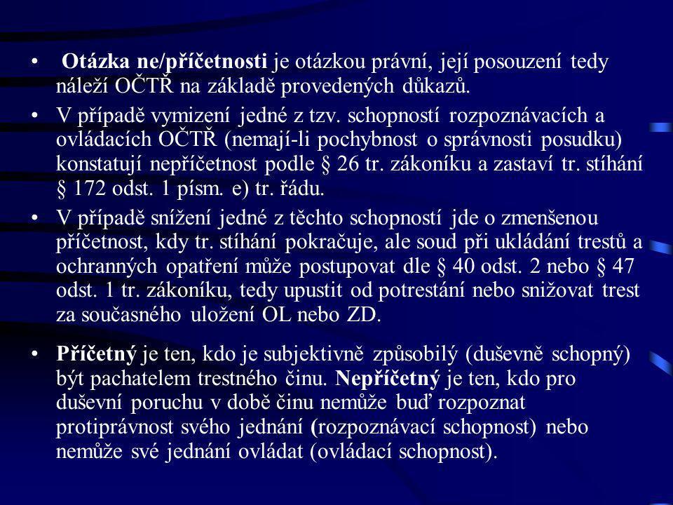 Pozorování duševního stavu v ústavu Podle § 116 odst.