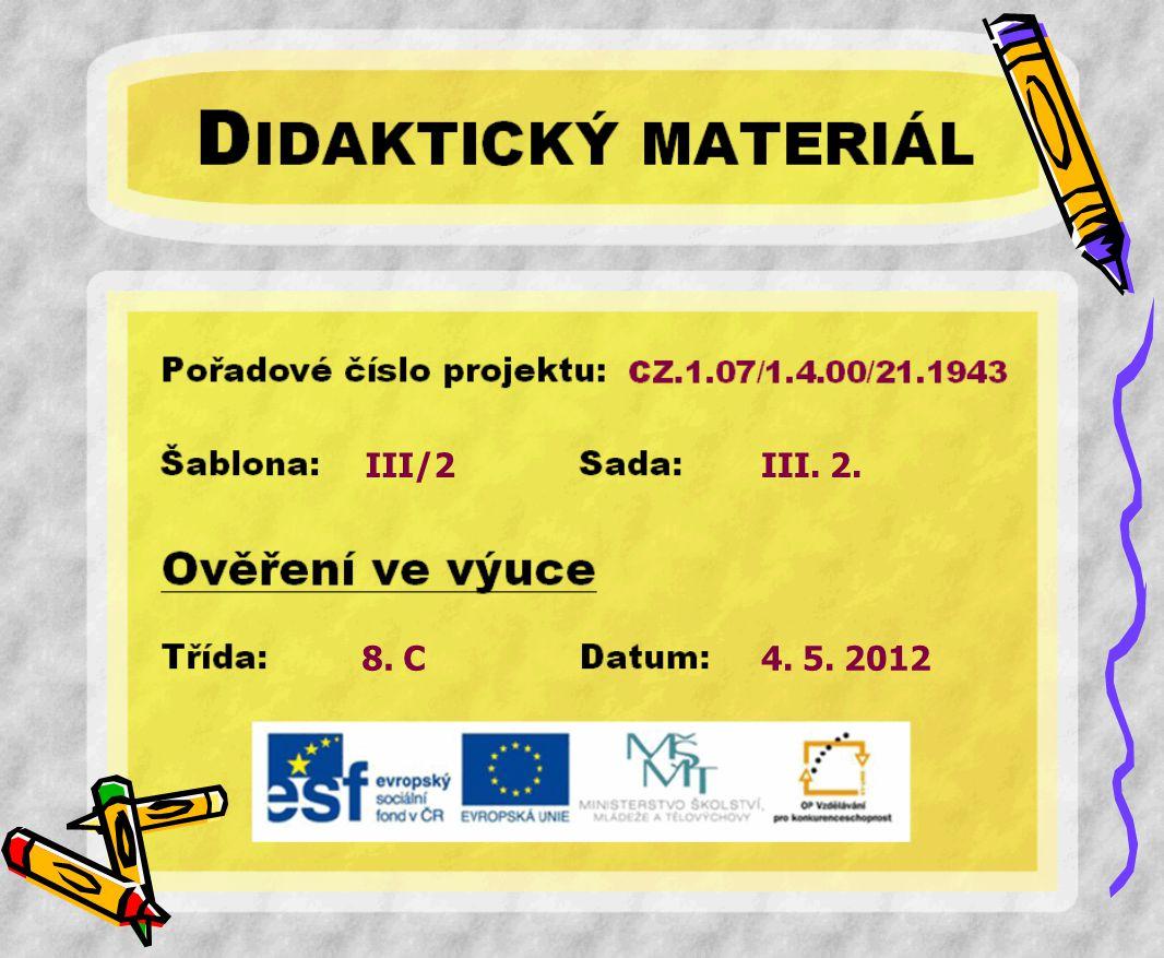 III/2 8. C III. 2. 4. 5. 2012