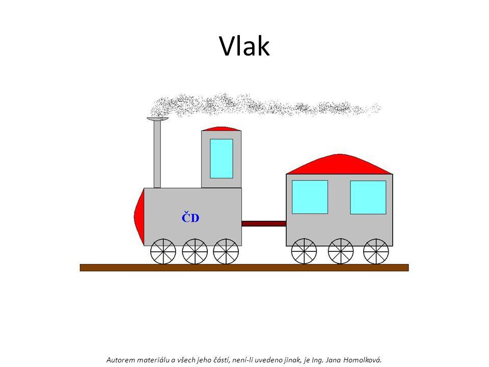 Vlak Autorem materiálu a všech jeho částí, není-li uvedeno jinak, je Ing. Jana Homolková.