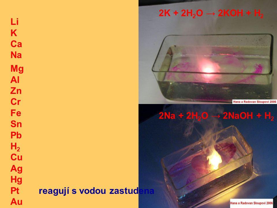 Li K Ca Na Mg Al Zn Cr Fe Sn Pb H 2 Cu Ag Hg Pt Au a)Hg + 4HNO 3 --› Hg(NO 3 ) 2 + 2NO 2 + 2H 2 O b) 6Hg + 8HNO 3 --› 3Hg 2 (NO 3 ) 2 + 2NO + 4H 2 O a b rtuť