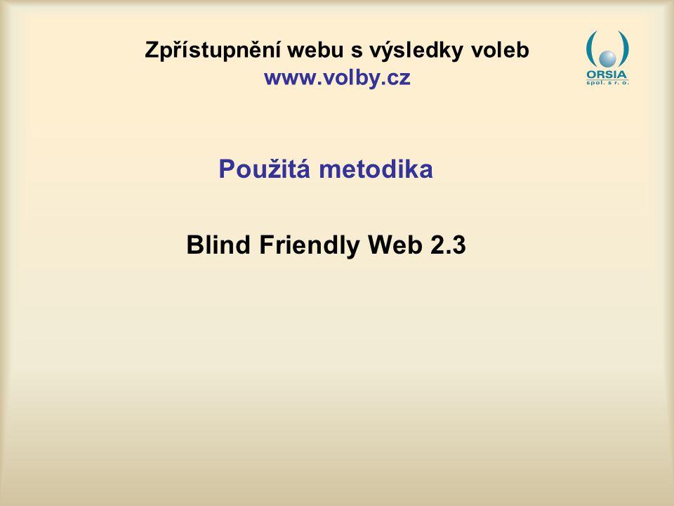 Zpřístupnění webu s výsledky voleb www.volby.cz Příklady řešených problémů s přístupností 8b.