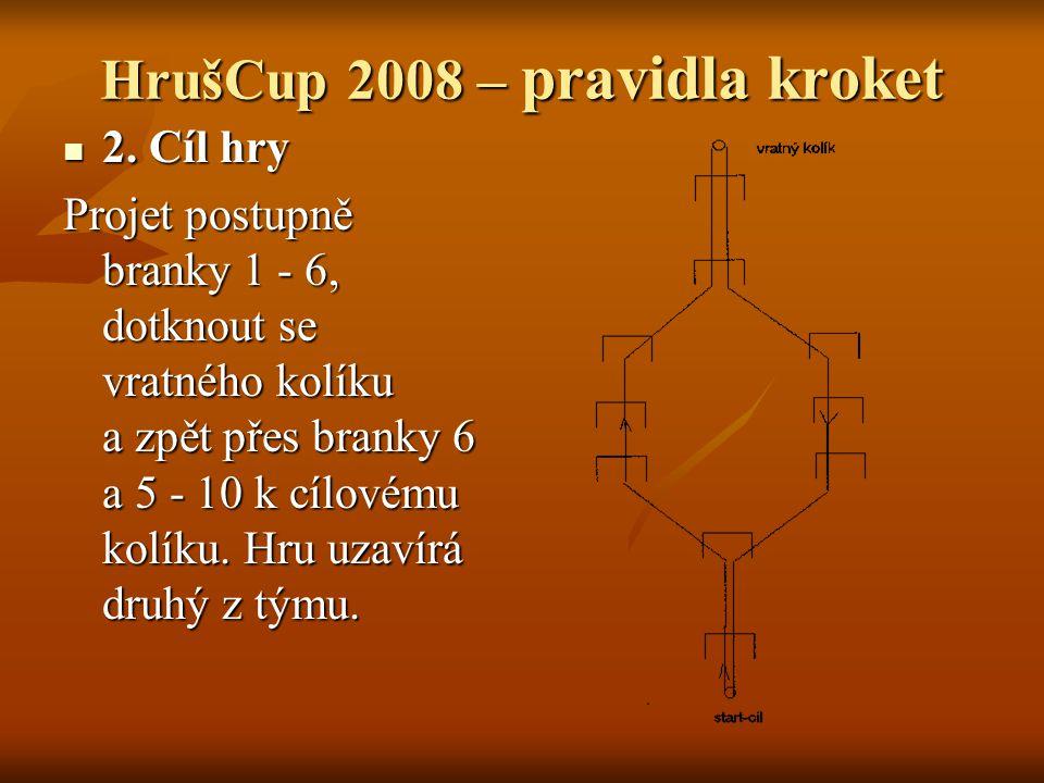 HrušCup 2008 – pravidla kroket 2. Cíl hry 2.