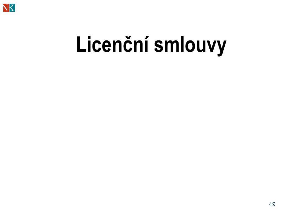 49 Licenční smlouvy