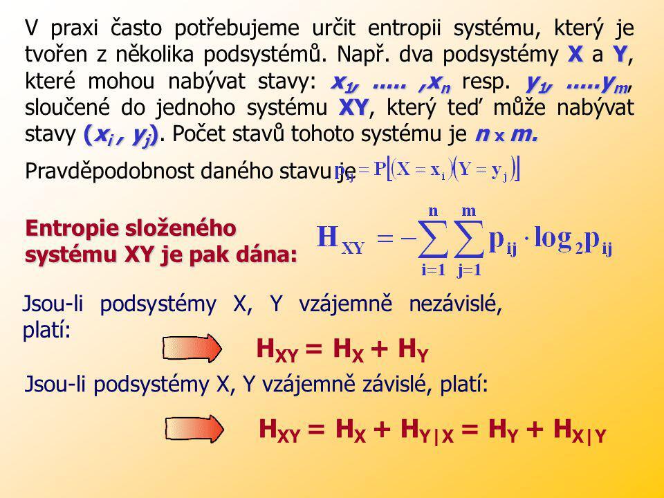 Příklad: (str. 38 – skripta Zelinka) Mějme abecedu A, B, C, D. Text sestavený z těchto abeced má 800 písmen. Předpokládejme, že A se vyskytuje 400 krá