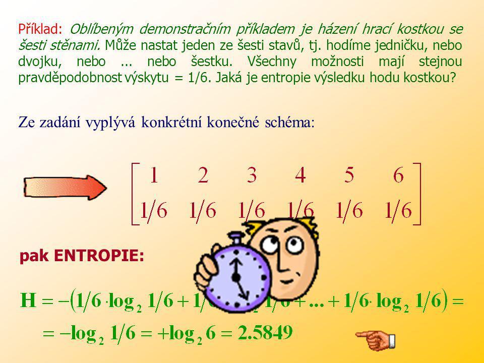 Entropii náhodné veličiny můžeme chápat i jako průměrné množství informace, které získáme, vykonáme-li několik nezávislých opakování náhodné veličiny.