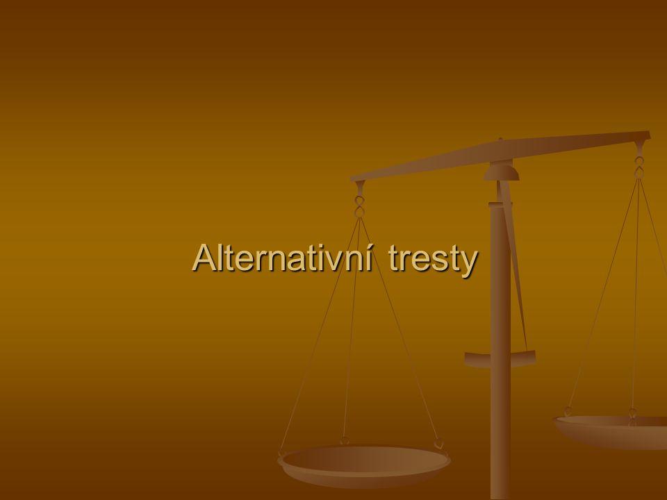 Alternativní tresty