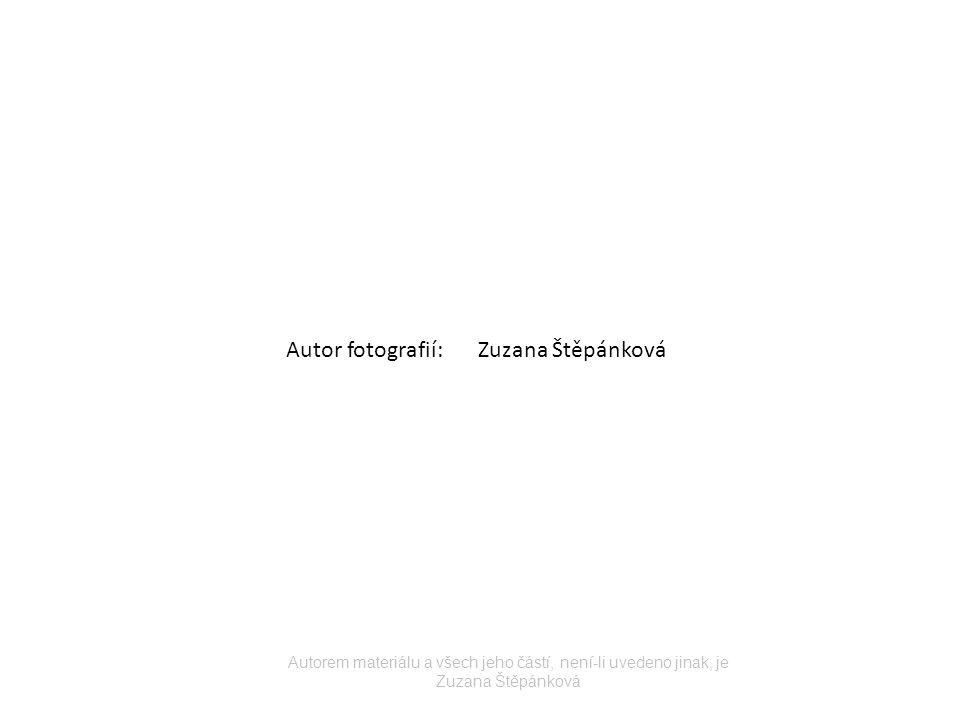 Autor fotografií:Zuzana Štěpánková Autorem materiálu a všech jeho částí, není-li uvedeno jinak, je Zuzana Štěpánková