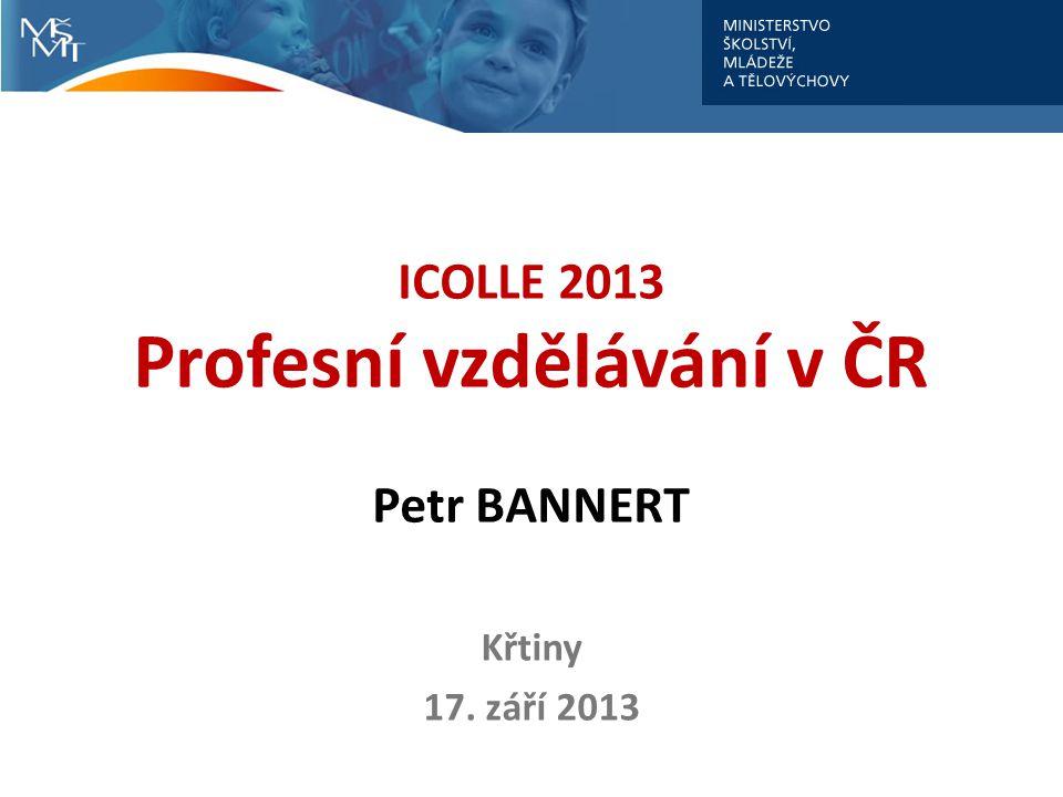 ICOLLE 2013 Profesní vzdělávání v ČR Petr BANNERT Křtiny 17. září 2013