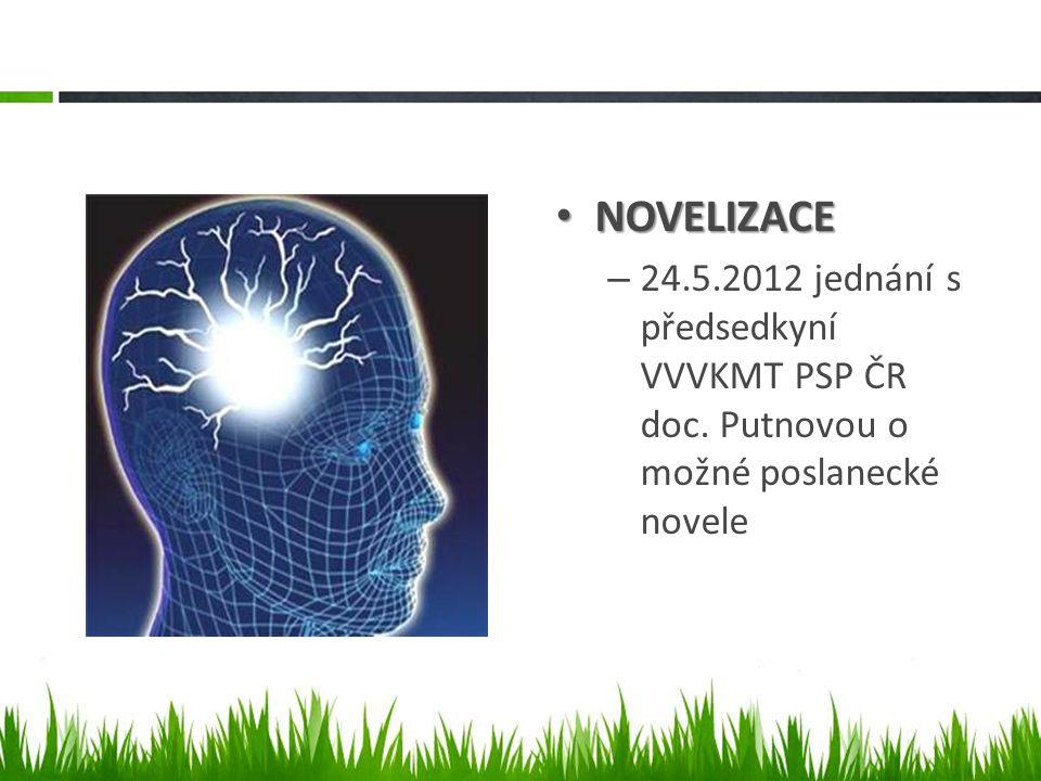 NOVELIZACE NOVELIZACE – 24.5.2012 jednání s předsedkyní VVVKMT PSP ČR doc.