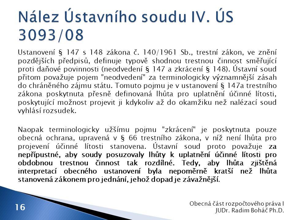 Ustanovení § 147 s 148 zákona č.