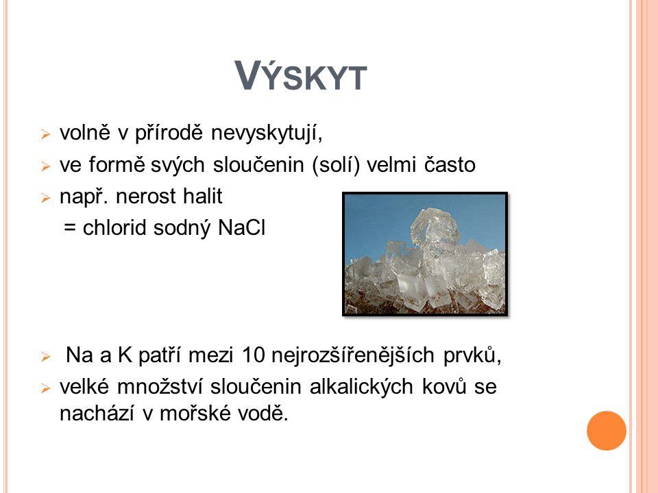 V ÝROBA  z minerálů (Li )  především z mořské vody : odpařování krystalizace elektrolýza