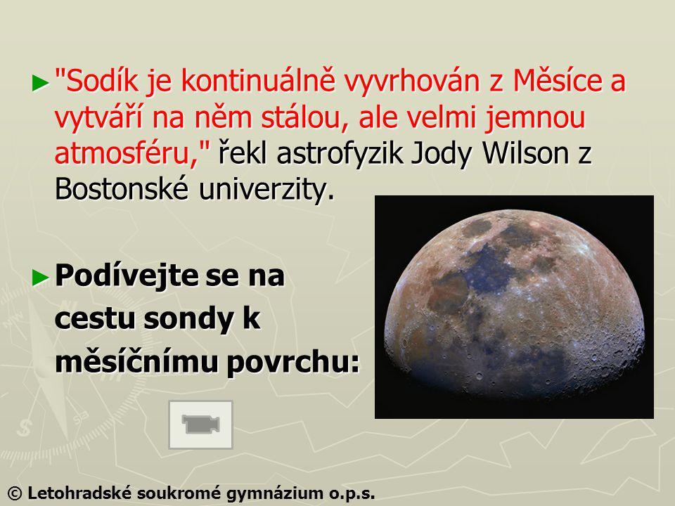 ► Sodík je kontinuálně vyvrhován z Měsíce a vytváří na něm stálou, ale velmi jemnou atmosféru, řekl astrofyzik Jody Wilson z Bostonské univerzity.