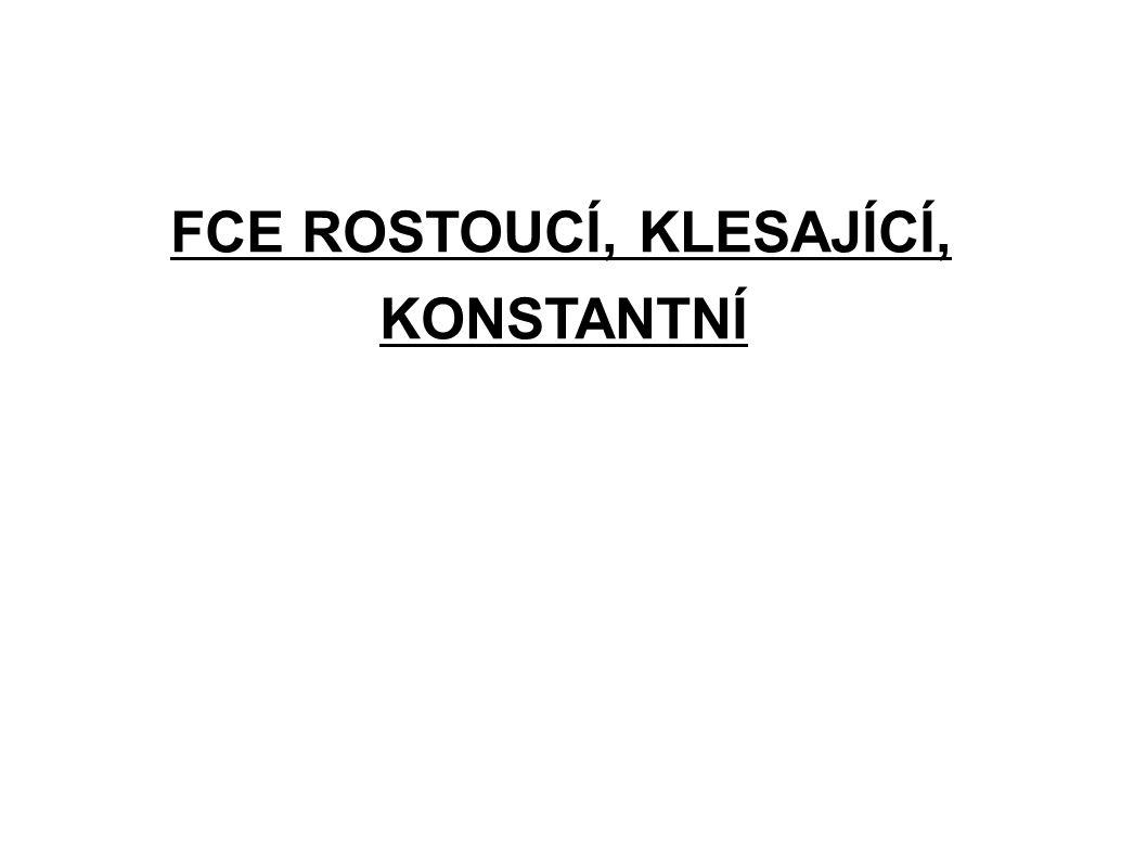 Fce y = kx + q je ROSTOUCÍ, je-li k > 0 ( k je kladné číslo ) př.