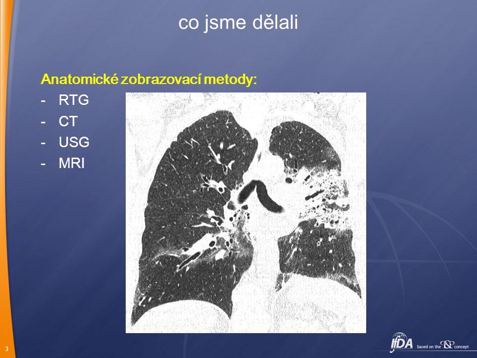 3 co jsme dělali Anatomické zobrazovací metody: -RTG -CT -USG -MRI