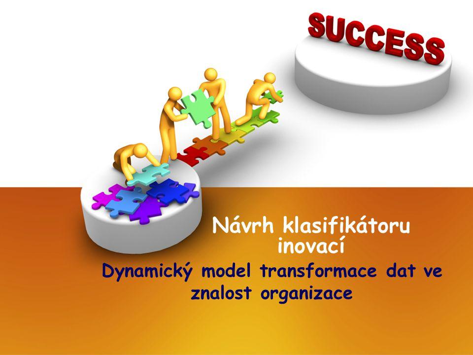 Návrh klasifikátoru inovací Dynamický model transformace dat ve znalost organizace