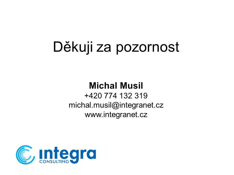Děkuji za pozornost Michal Musil +420 774 132 319 michal.musil@integranet.cz www.integranet.cz