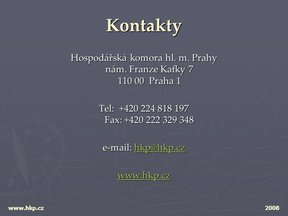 Kontakty Hospodářská komora hl. m. Prahy nám.