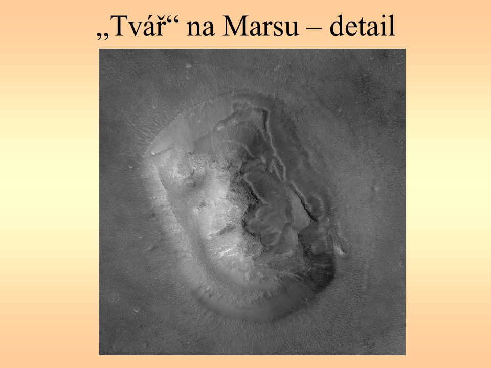 """""""Tvář"""" na Marsu – detail"""