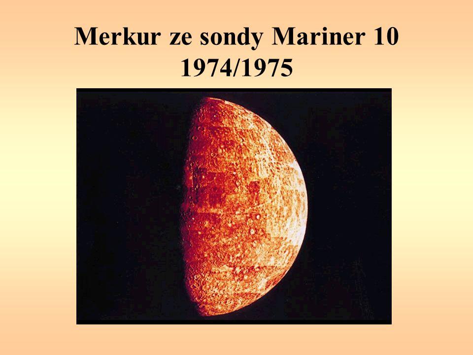 Merkur ze sondy Mariner 10 1974/1975