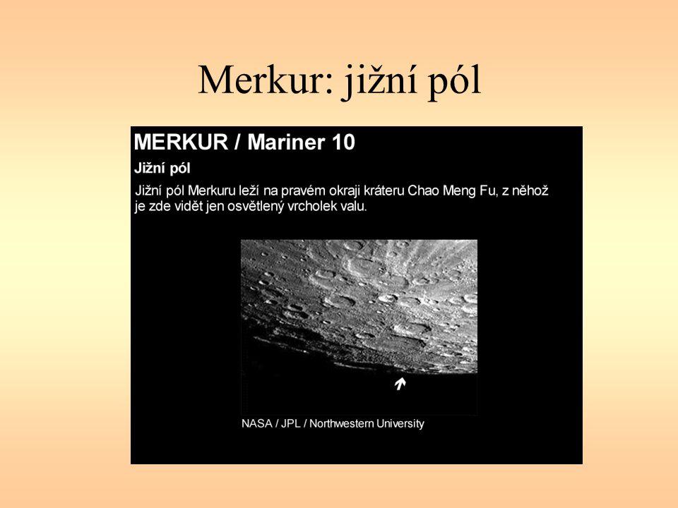 Merkur: jižní pól