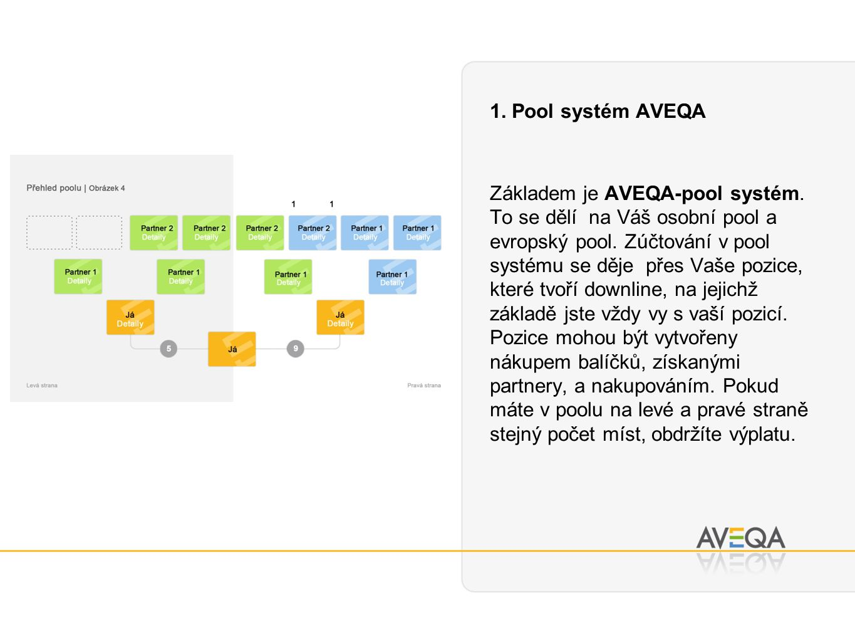 1. Pool systém AVEQA Základem je AVEQA-pool systém.