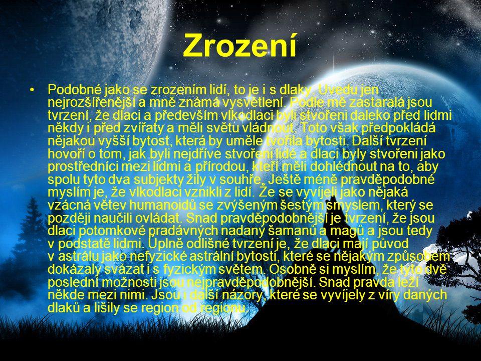 Zaříkavadlo Zdar, Zdar, Zdar, velký vlčí duchu, Zdar.