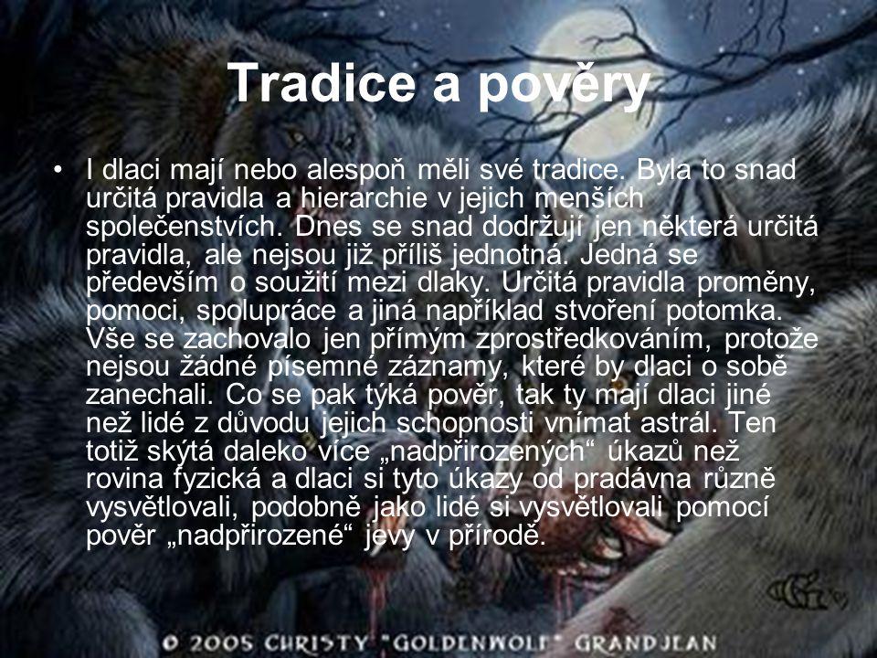 Tradice a pověry I dlaci mají nebo alespoň měli své tradice. Byla to snad určitá pravidla a hierarchie v jejich menších společenstvích. Dnes se snad d