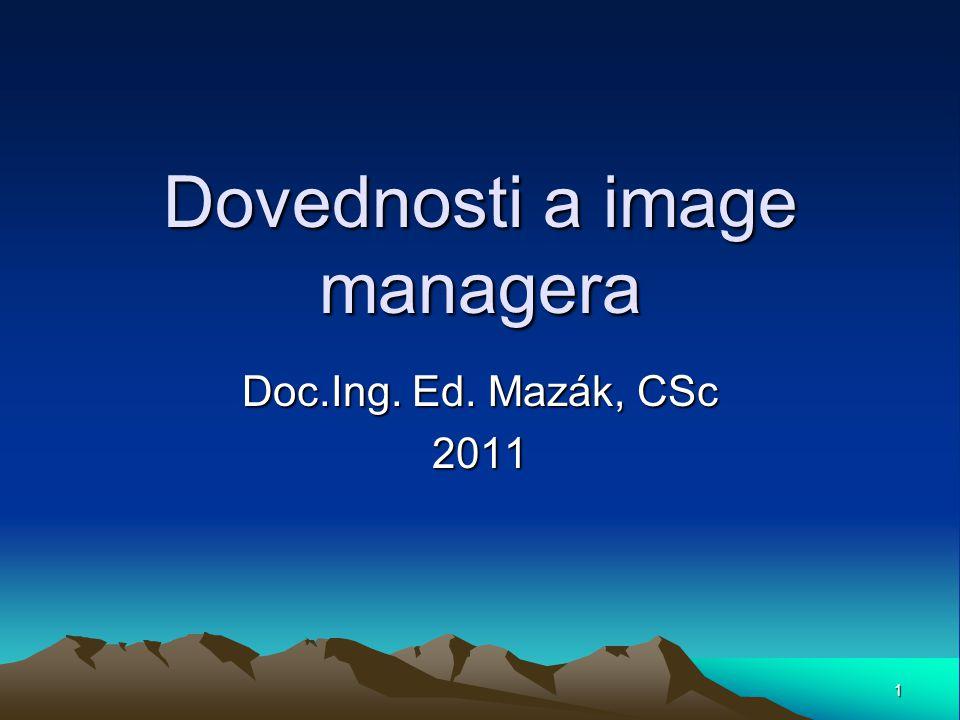 Témata předmětu DIM Úvod -Základní pojmy a principy managementu Manažer a jeho postavení v organizaci.