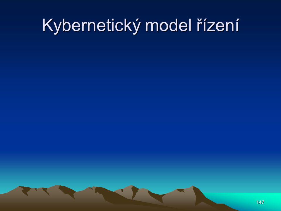 Kybernetický model řízení 147