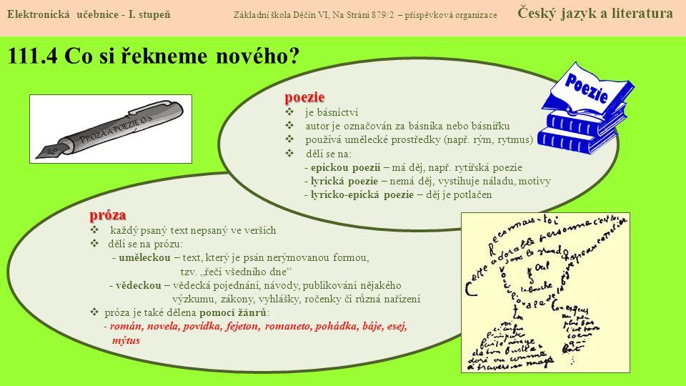 111.5 Procvičení a příklady Elektronická učebnice - I.