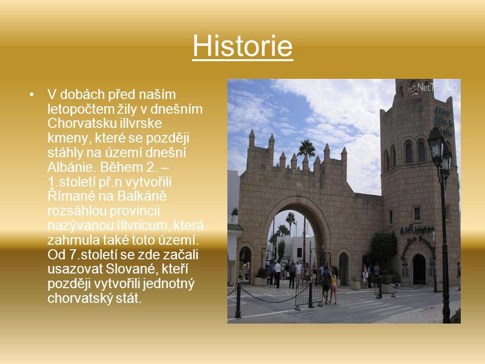 Historie V dobách před naším letopočtem žily v dnešním Chorvatsku illvrske kmeny, které se později stáhly na území dnešní Albánie. Během 2. – 1.stolet