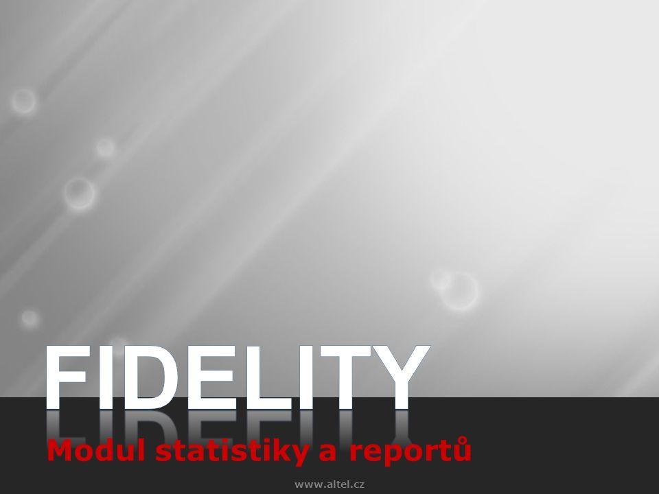 www.altel.cz Modul statistiky a reportů